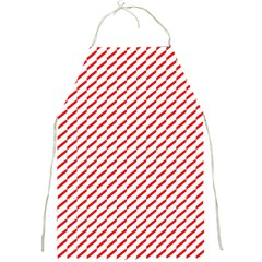 Pattern Red White Background Full Print Aprons by Simbadda