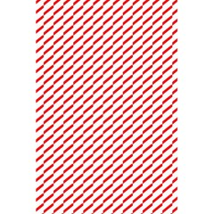 Pattern Red White Background 5 5  X 8 5  Notebooks by Simbadda