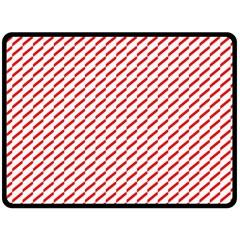 Pattern Red White Background Fleece Blanket (large)  by Simbadda