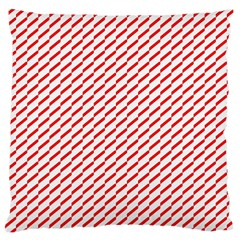 Pattern Red White Background Large Cushion Case (two Sides)