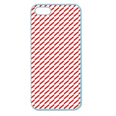 Pattern Red White Background Apple Seamless Iphone 5 Case (color) by Simbadda