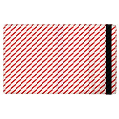 Pattern Red White Background Apple Ipad 2 Flip Case by Simbadda