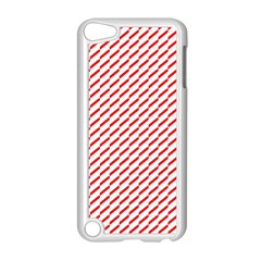 Pattern Red White Background Apple Ipod Touch 5 Case (white) by Simbadda