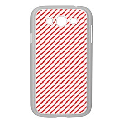 Pattern Red White Background Samsung Galaxy Grand Duos I9082 Case (white) by Simbadda