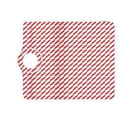 Pattern Red White Background Kindle Fire Hdx 8 9  Flip 360 Case by Simbadda