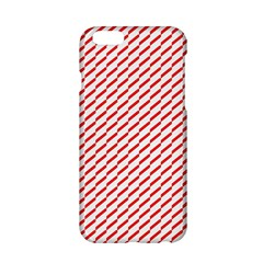 Pattern Red White Background Apple Iphone 6/6s Hardshell Case by Simbadda