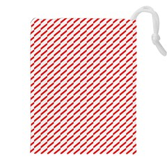 Pattern Red White Background Drawstring Pouches (xxl) by Simbadda