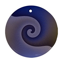 Logo Wave Design Abstract Ornament (round) by Simbadda