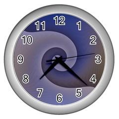 Logo Wave Design Abstract Wall Clocks (silver)  by Simbadda