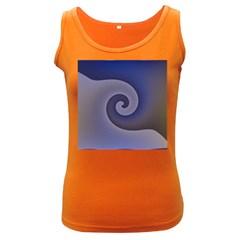 Logo Wave Design Abstract Women s Dark Tank Top by Simbadda