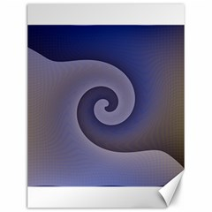 Logo Wave Design Abstract Canvas 12  X 16   by Simbadda