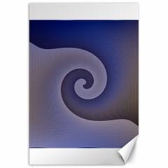 Logo Wave Design Abstract Canvas 20  X 30   by Simbadda