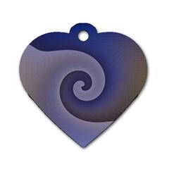 Logo Wave Design Abstract Dog Tag Heart (one Side) by Simbadda