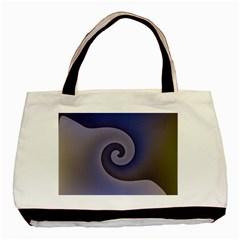 Logo Wave Design Abstract Basic Tote Bag (two Sides) by Simbadda
