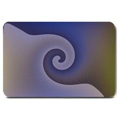 Logo Wave Design Abstract Large Doormat  by Simbadda