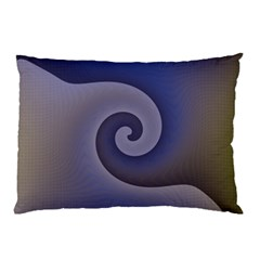 Logo Wave Design Abstract Pillow Case by Simbadda