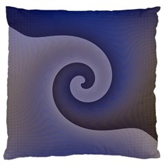 Logo Wave Design Abstract Large Cushion Case (one Side) by Simbadda