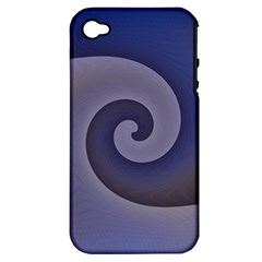 Logo Wave Design Abstract Apple Iphone 4/4s Hardshell Case (pc+silicone) by Simbadda