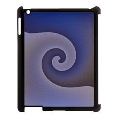 Logo Wave Design Abstract Apple Ipad 3/4 Case (black) by Simbadda