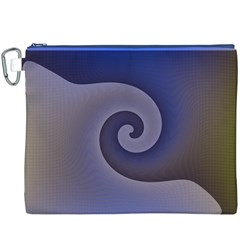 Logo Wave Design Abstract Canvas Cosmetic Bag (xxxl) by Simbadda