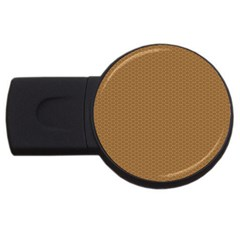 Pattern Honeycomb Pattern Brown Usb Flash Drive Round (4 Gb) by Simbadda