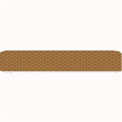 Pattern Honeycomb Pattern Brown Small Bar Mats by Simbadda
