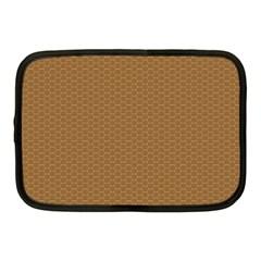 Pattern Honeycomb Pattern Brown Netbook Case (medium)  by Simbadda