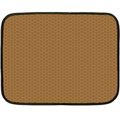 Pattern Honeycomb Pattern Brown Double Sided Fleece Blanket (mini)  by Simbadda