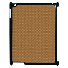 Pattern Honeycomb Pattern Brown Apple Ipad 2 Case (black) by Simbadda