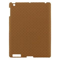 Pattern Honeycomb Pattern Brown Apple Ipad 3/4 Hardshell Case by Simbadda