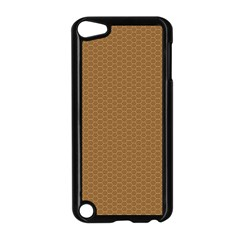 Pattern Honeycomb Pattern Brown Apple Ipod Touch 5 Case (black) by Simbadda