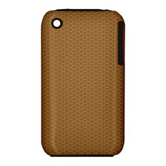 Pattern Honeycomb Pattern Brown Iphone 3s/3gs by Simbadda