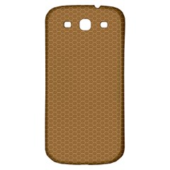 Pattern Honeycomb Pattern Brown Samsung Galaxy S3 S Iii Classic Hardshell Back Case by Simbadda