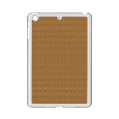 Pattern Honeycomb Pattern Brown Ipad Mini 2 Enamel Coated Cases by Simbadda