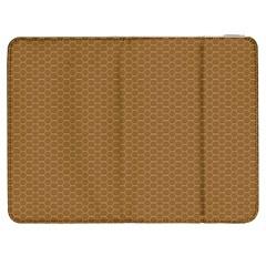 Pattern Honeycomb Pattern Brown Samsung Galaxy Tab 7  P1000 Flip Case by Simbadda