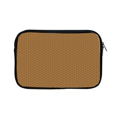 Pattern Honeycomb Pattern Brown Apple Ipad Mini Zipper Cases by Simbadda