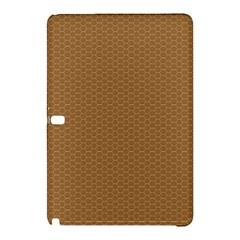 Pattern Honeycomb Pattern Brown Samsung Galaxy Tab Pro 10 1 Hardshell Case by Simbadda