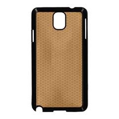Pattern Honeycomb Pattern Brown Samsung Galaxy Note 3 Neo Hardshell Case (black) by Simbadda