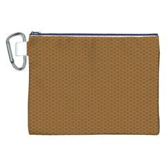Pattern Honeycomb Pattern Brown Canvas Cosmetic Bag (xxl) by Simbadda