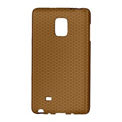 Pattern Honeycomb Pattern Brown Galaxy Note Edge by Simbadda
