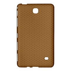 Pattern Honeycomb Pattern Brown Samsung Galaxy Tab 4 (8 ) Hardshell Case  by Simbadda