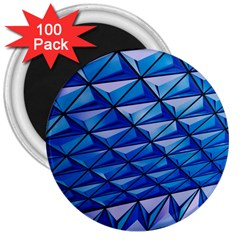 Lines Geometry Architecture Texture 3  Magnets (100 Pack) by Simbadda