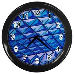 Lines Geometry Architecture Texture Wall Clocks (black) by Simbadda
