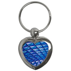 Lines Geometry Architecture Texture Key Chains (heart)  by Simbadda