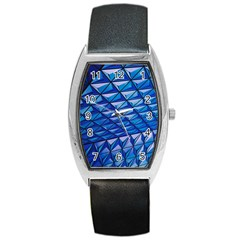 Lines Geometry Architecture Texture Barrel Style Metal Watch by Simbadda