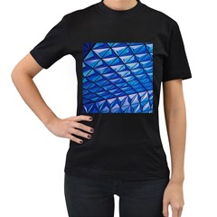 Lines Geometry Architecture Texture Women s T Shirt (black) by Simbadda