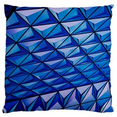 Lines Geometry Architecture Texture Large Cushion Case (two Sides) by Simbadda
