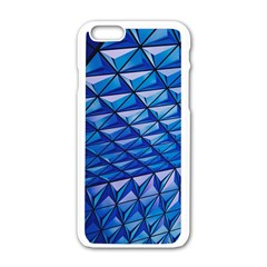 Lines Geometry Architecture Texture Apple Iphone 6/6s White Enamel Case by Simbadda