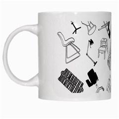 Furniture Black Decor Pattern White Mugs by Simbadda