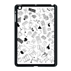Furniture Black Decor Pattern Apple Ipad Mini Case (black) by Simbadda